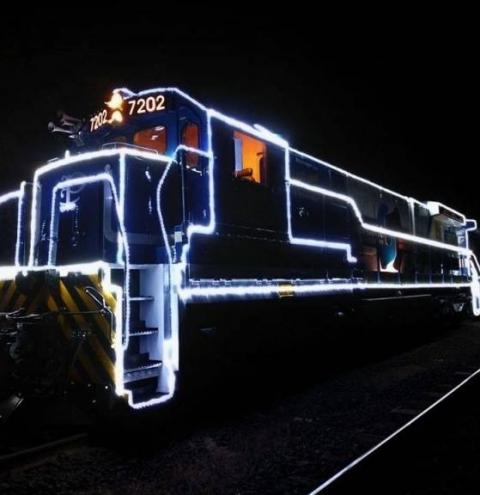 Locomotiva Iluminada de Natal passará pela região