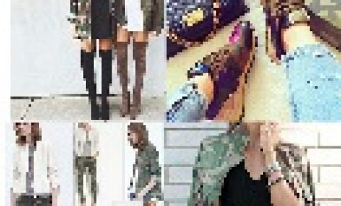 Verde camuflado, jaquetas, botas e coturnos, a tendência feminina do militar!