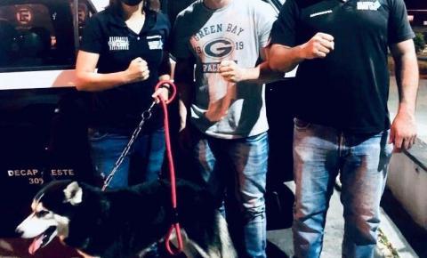 Cão é resgatado após ser abusado por empresário