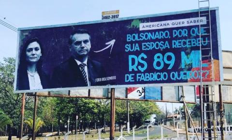 Grupo instala outdoor anti-Bolsonaro em Americana