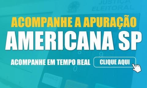 Apuração de votos Americana/SP - Eleições 2020 - Tempo Real