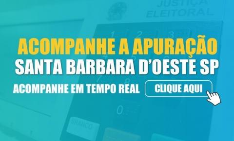 Apuração de votos Santa Bárbara d'Oeste/SP - Eleições 2020 - Tempo Real