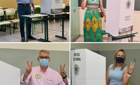 Candidatos a prefeito(a) de Americana votaram pela manhã