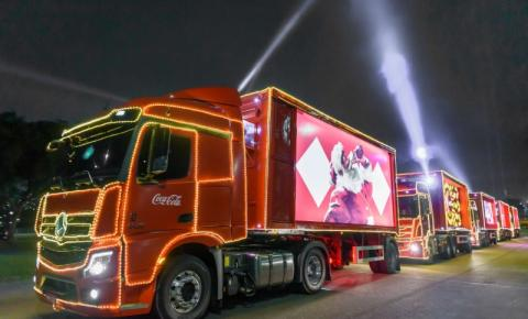 Caravana Iluminada de Natal da Coca-Cola passará na próxima terça