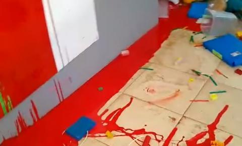 Creche no São Jerônimo é alvo de vandalismo durante o dia