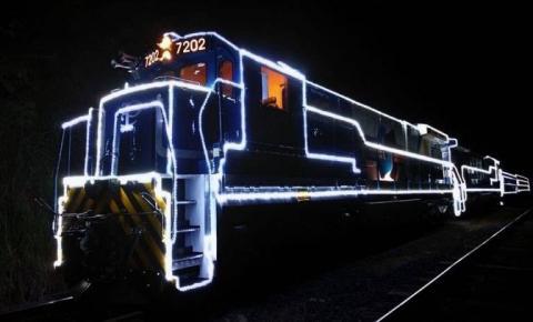 Locomotiva iluminada de Natal não passará pela região este ano