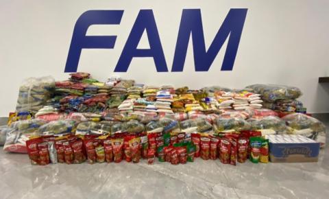 FAM arrecada mais de 1 tonelada de alimentos em Drive Thru Solidário