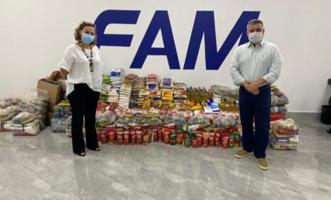 Trote Solidário FAM: Ação arrecada mais de 1 tonelada de alimentos
