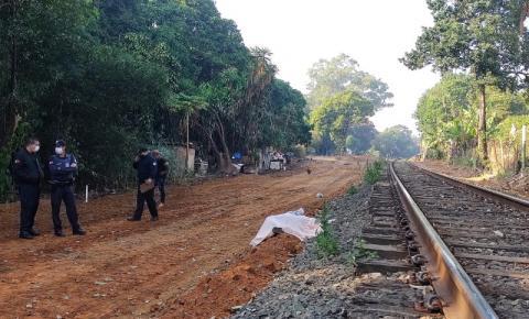 Corpo de homem é localizado na linha férrea