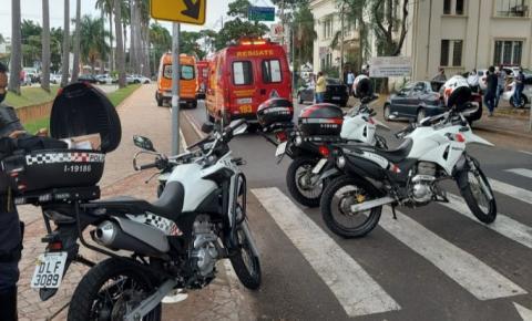Policial Militar sofre acidente na Avenida Brasil