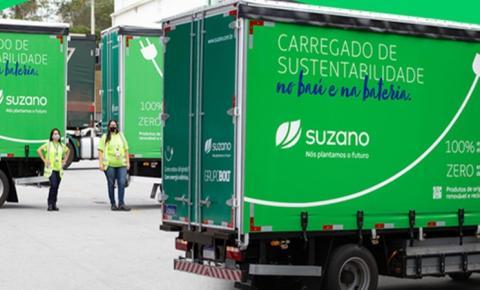 Suzano inicia operação com caminhões elétricos dirigidos por mulheres