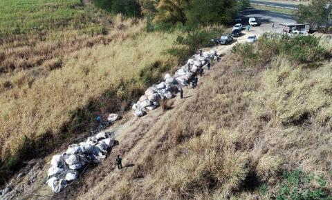Guarda Municipal localiza 80 toneladas de descarte irregular de resíduos em área rural de S.Bárbara