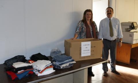 Fundo Social recebe doações de agasalhos da AutoBAn e Polícia Civil