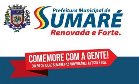 149 anos de Sumaré: Confira a programação deste domingo, dia 30