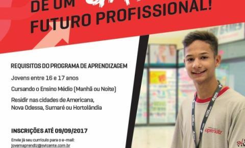 Supermercado São Vicente abre vagas para Jovem Aprendiz