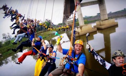 Recordista de maior pêndulo humano anuncia aposentadoria após salto em Hortolândia