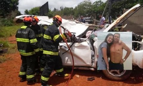 Pai e filha morrem em capotamento de veículo em Sumaré