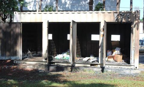Incêndio destrói materiais recicláveis em Ponto de Entrega Voluntária em Sumaré