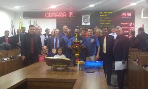 GM de Sumaré é homenageada pelo título do 'Campeonato Paulista de Futebol das Guardas Municipais'