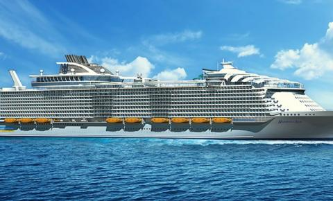 Royal Caribbean apresenta o maior navio de cruzeiro do mundo