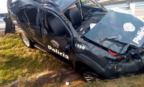 Viatura do BAEP capota e um policial morre na Rodovia D. Pedro