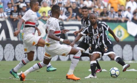 Sem entusiasmar, São Paulo fica no empate sem gols com o Ceará em Fortaleza