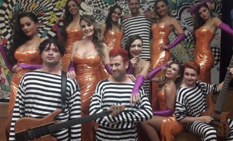 Banda de Santa Bárbara se apresenta no Faustão