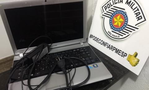 Polícia recupera notebook furtado no interior de carro em S. Bárbara