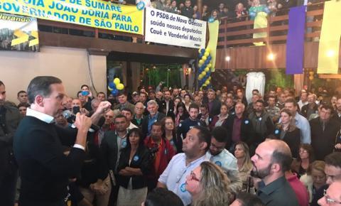 Pré candidato a governador, João Doria visita Americana e Nova Odessa
