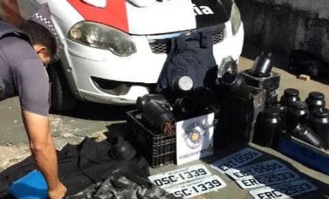 Homem é preso com explosivos, máscaras e equipamentos utilizados em assaltos