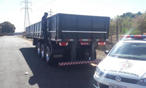 Guarda Municipal localiza carreta roubada em Americana