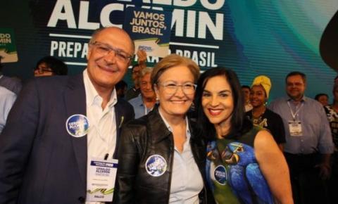 Geraldo Alckmin e Ana Amélia lançam candidatura com grande festa em Brasília