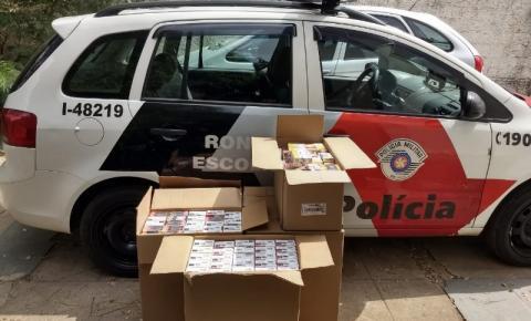 PM recupera mais de 2700 maços de cigarro roubados em Sumaré