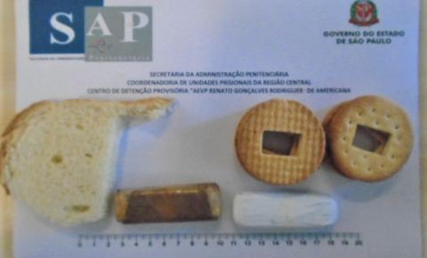Mulher tenta entrar no CDP com micro celulares escondidos em pacotes de pão e bolacha