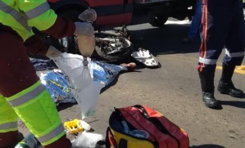 Choque entre caminhão e moto deixa um morto em Sumaré