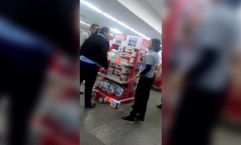 Mulher é agredida dentro do supermercado Good Bom, em Sumaré