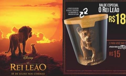 Moviecom do Tivoli tem balde do Rei Leão