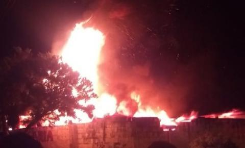 Incêndio atinge estamparia em Santa Bárbara d'Oeste