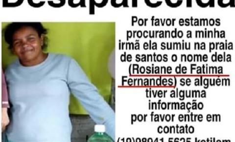 Moradora de Americana está desaparecida em Santos