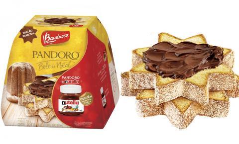 Bauducco lança bolo de Natal com pote de Nutella para jogar por cima