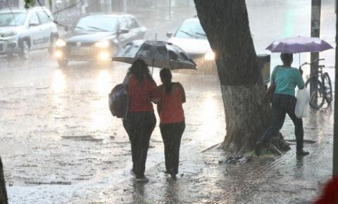 Região terá dias chuvosos no decorrer da semana