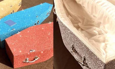 Empresa lança caixões com glitter